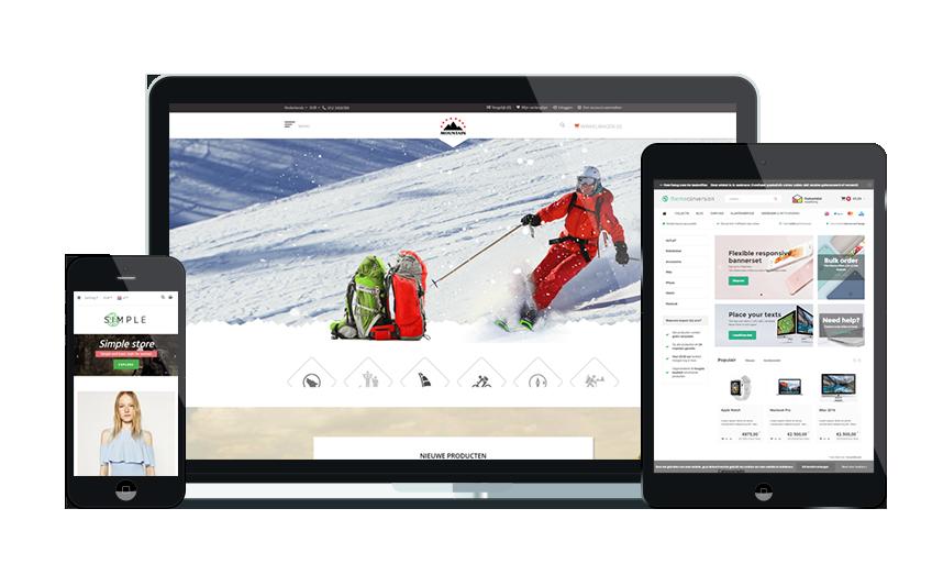 Responsive Lightspeed webshop design